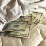 Money under a mattress