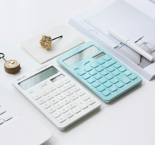 2 calculators on a desk