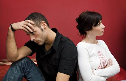 Man and woman coping with divorce