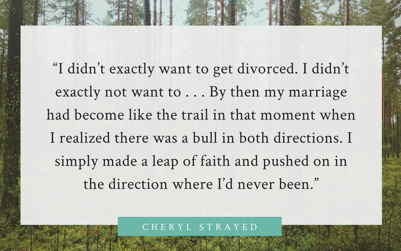 Cheryl Strayed quote on divorce