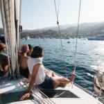 Divorced women on a boat